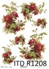 Papier ryżowy ciemno czerwone róże*Rice paper dark red roses
