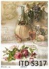 papier decoupage winogrona, róże*paper decoupage grapes, roses