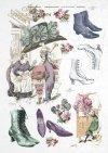 fashion, Paris, old France, vintage, hat, shoe, boots, joke, flowers, R335