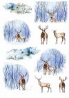 Papiery do scrapbookingu w zestawach - zimowe zwierzęta*Papers for scrapbooking in sets - winter animals