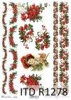 Papier decoupage Vintage*świąteczne szlaczki*Gwiazda Betlejemska