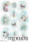 Shabby Chic, Vögel, Aquarelle, Frühling * Shabby Chic, pájaros, acuarelas, primavera * Shabby Chic, птицы, акварели, родник