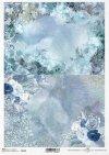 Papier ryżowy - Święta w błękicie 2 * Rice paper - Christmas in blue 2