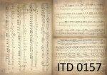 Decoupage paper ITD D0157M
