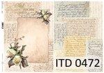 Decoupage paper ITD D0472