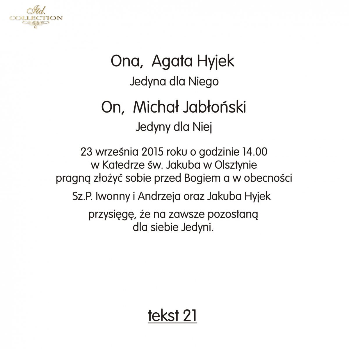 Teksty Na ślub Ts21 Polskie Zaproszenia ślubne Fajne Teksty Na
