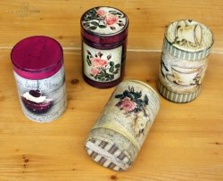 Ozdobne puszki do kawy - warsztaty prowadzone przez Hobbyarmos, Larisa, Grecja
