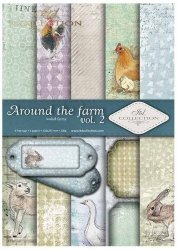 .Papier do scrapbookingu SCRAP-036 ''Around the farm vol.2