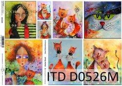 Papier decoupage ITD D0526M