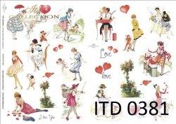 Papier decoupage ITD D0381