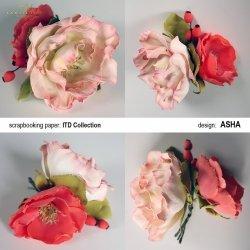 Kwiat ozdobny 3 - praca Asha