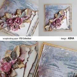 Kartka okolicznościowa Ślubu Czas - praca Asha