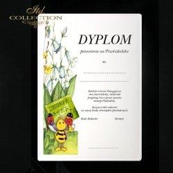 Dyplom pasowania na przedszkolaka Pszczółka