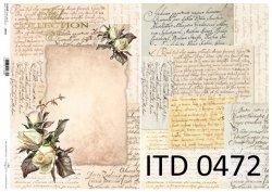 Papier decoupage ITD D0472