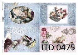 Papier decoupage ITD D0475