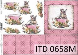 Papier decoupage ITD D0658M