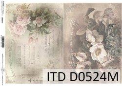 Papier decoupage ITD D0524M