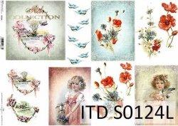 Papier decoupage SOFT ITD S0124L