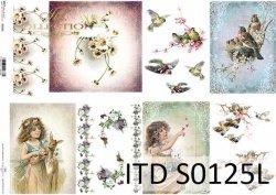 Papier decoupage SOFT ITD S0125L