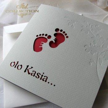 Приглашение на Святое Крещение 1724 014 красный