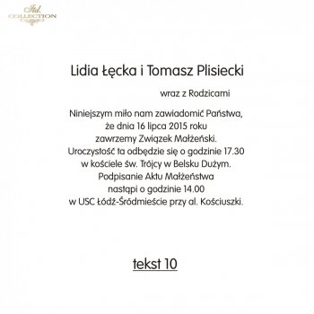 .text pro svatební oznámení - TS10