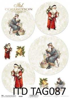 бумага для новогодних и рождественских шаров TAG0087