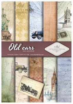 Скрапбукинг бумаги SCRAP-010 ''Старые автомобили