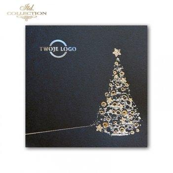 Рождественская и Новогодняя открытка K523