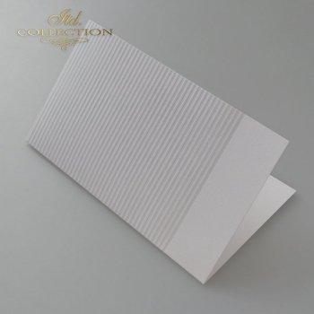 Заготовки для открыток BDK-026 светло-серый, полоски
