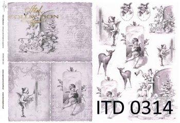 бумага для декупажа классическая D0314
