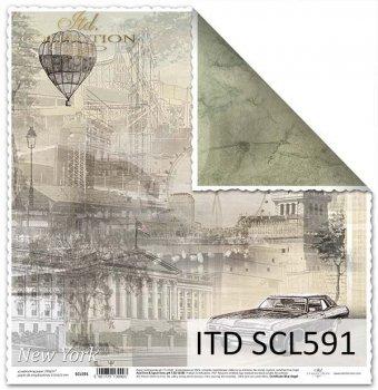 Бумага для скрапбукинга SCL591