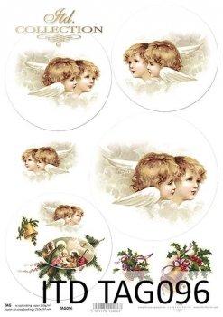 бумага для новогодних и рождественских шаров TAG0096