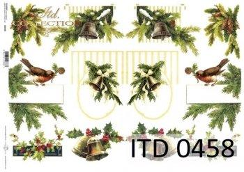 бумага для декупажа классическая D0458M