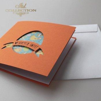 Пасхальная открытка с конвертом KW216