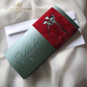 Zaproszenia  na studniówkę ZS_72 z elegancką kopertą