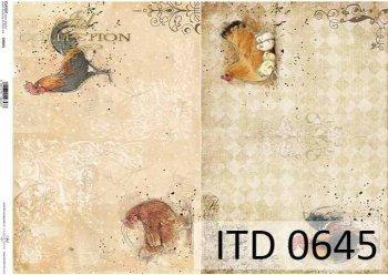 бумага для декупажа классическая D0645