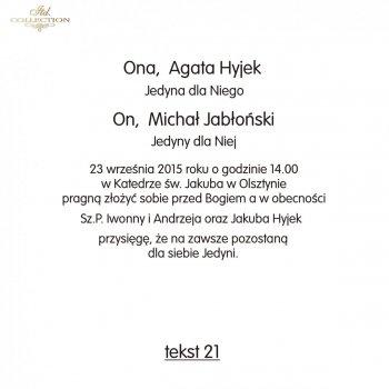 .text pro svatební oznámení - TS21
