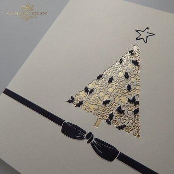 Рождественская и Новогодняя открытка K588