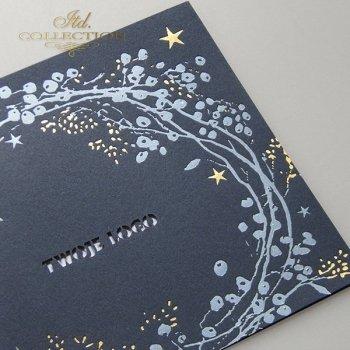 Рождественская и Новогодняя открытка K620