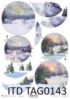 бумага для новогодних и рождественских шаров TAG0143