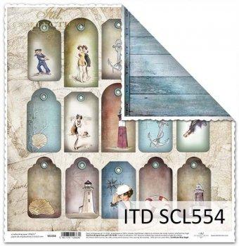 Бумага для скрапбукинга SCL554