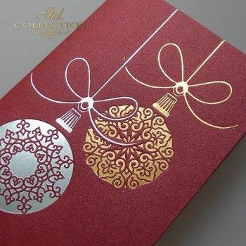 Рождественская и Новогодняя открытка K616