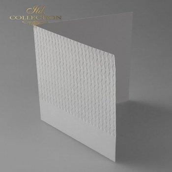 Заготовки для открыток BDK-022 светло-серый, бриллианты
