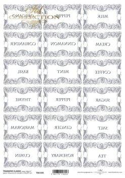.трансферная бумага для декупажа T6035