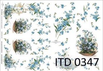 бумага для декупажа классическая D0347