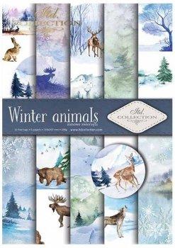 Скрапбукинг бумаги SCRAP-018 ''Зимние животные