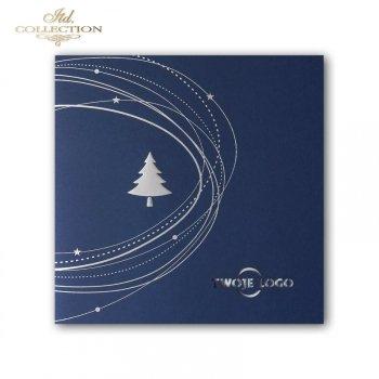 Рождественская и Новогодняя открытка K598