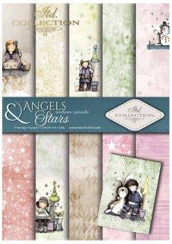 Скрапбукинг бумаги SCRAP-024 ''Ангелы и звезды