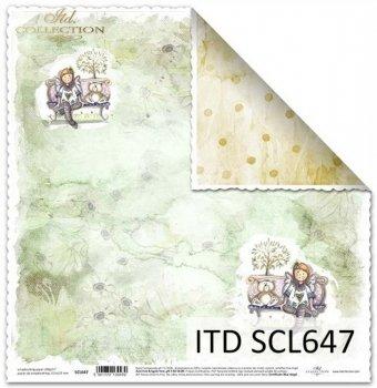 Бумага для скрапбукинга SCL647