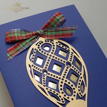 Рождественская и Новогодняя открытка K610